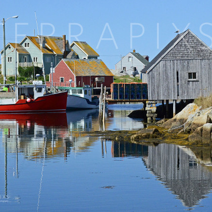 OCA111 Peggy's Cove Fishing Village-Nova Scotia, Canada