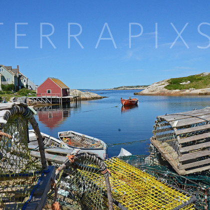 OCA122 Peggy's Cove Fishing Village-Nova Scotia, Canada