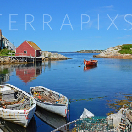 OCA123 Peggy's Cove Fishing Village-Nova Scotia, Canada