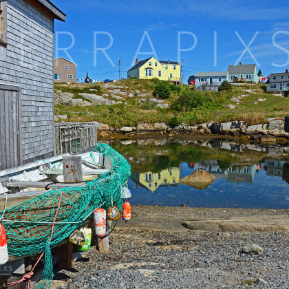 OCA115 Peggy's Cove Fishing Village-Nova Scotia, Canada